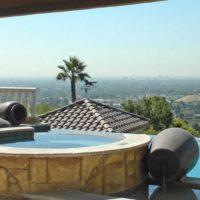 Infinity pool in Hidden hills Los Angeles CA